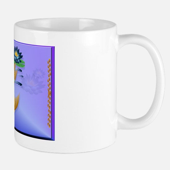 YardsignGold Koi and Deep Blue Lilies Mug