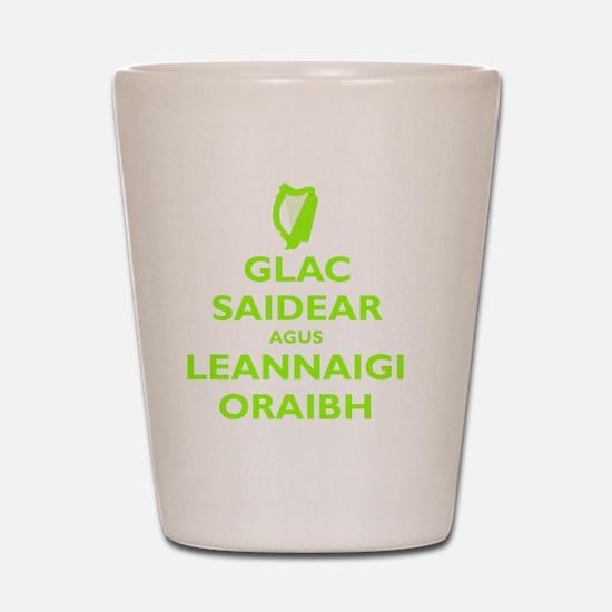 KEEP CALM IRISH Shot Glass