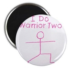 Warrior Two Pink Magnet