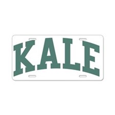 kale-tshirt2 Aluminum License Plate