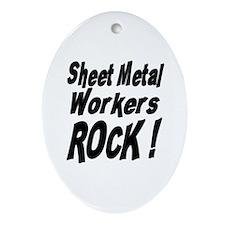 Sheet Metal Rocks ! Oval Ornament