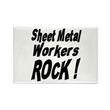 Sheet Metal Rocks ! Rectangle Magnet