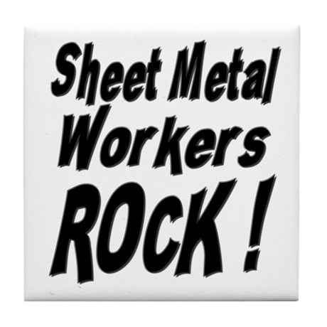 Sheet Metal Rocks ! Tile Coaster