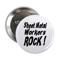 "Sheet Metal Rocks ! 2.25"" Button (10 pack)"