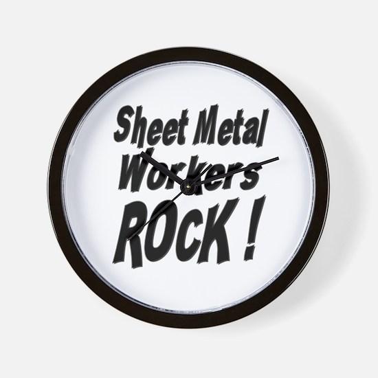 Sheet Metal Rocks ! Wall Clock