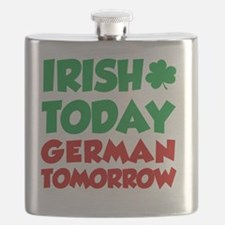 Irish Today German Tomorrow Flask