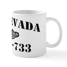 nevada black letters Mug
