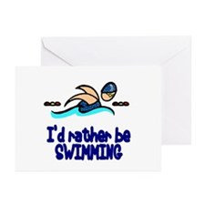 SwimChick Rather Greeting Cards (Pk of 10)