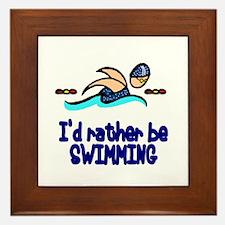 SwimChick Rather Framed Tile