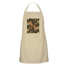 tan-green-brown-flip flop Apron