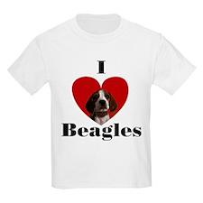 I Love Beagles Kids T-Shirt