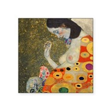 "Pillow Klimt Hope B Square Sticker 3"" x 3"""