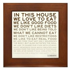 FOOD_IN-THIS-HOUSE_BROWN_PRODUCTS Framed Tile