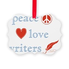 PeaceLoveWriters Ornament
