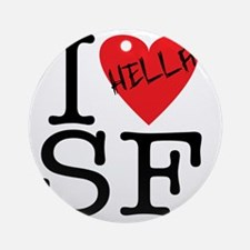 Love SF.gif Round Ornament