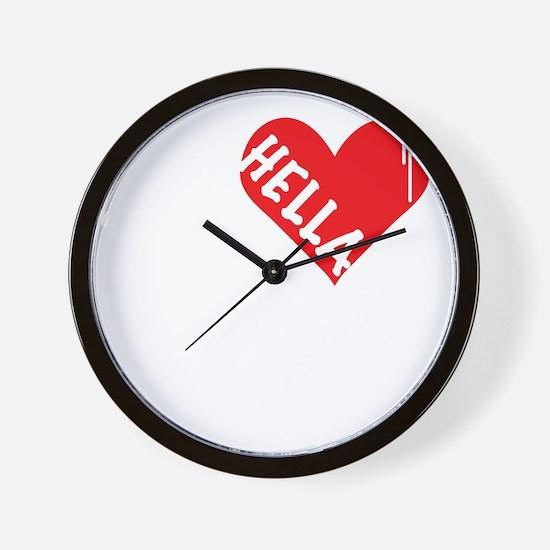 Hella Love (Red).gif Wall Clock