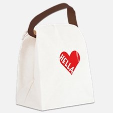 Hella Love (Red).gif Canvas Lunch Bag