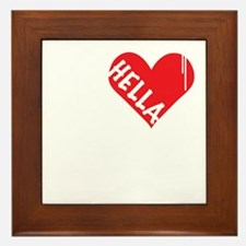 Hella Love (Red).gif Framed Tile