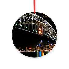 mouse pad_0057_Sydney1_Harbour_Brid Round Ornament