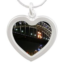 prints_0053_Sydney_Harbour_B Silver Heart Necklace