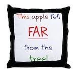 This Apple Fell Far Throw Pillow