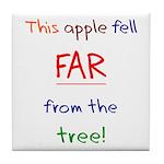 This Apple Fell Far Tile Coaster