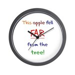 This Apple Fell Far Wall Clock
