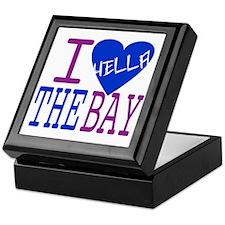 I Love The Bay (Blue).gif Keepsake Box