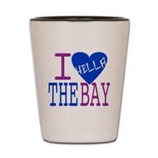 I Love The Bay (Blue).gif Shot Glass