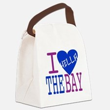 I Love The Bay (Blue).gif Canvas Lunch Bag