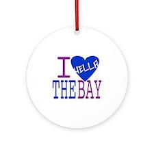 I Love The Bay (Blue).gif Round Ornament