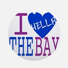 I Love The Bay (Blue).gif Round Ornament