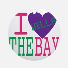 I Love The Bay (Purp).gif Round Ornament