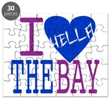 I Love The Bay (Blue).gif Puzzle