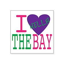 """I Love The Bay (Purp).gif Square Sticker 3"""" x 3"""""""