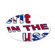 BRIT IN THE USA Oval Car Magnet