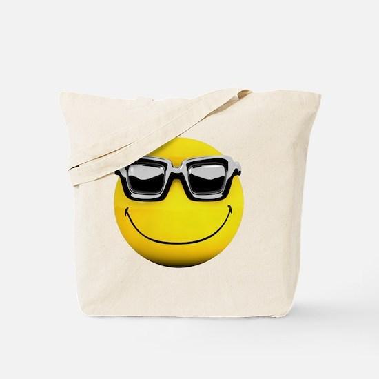 3d-smiley-sunglasses Tote Bag