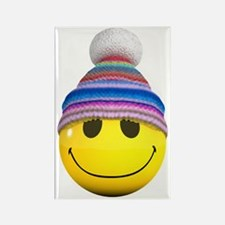 3d-smiley-wooly Rectangle Magnet