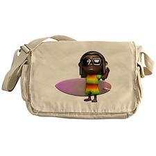 3d-rasta-surfboard Messenger Bag