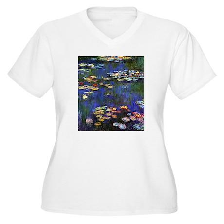 FF Monet 13 Women's Plus Size V-Neck T-Shirt