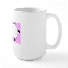 Lamb on pink for baby Mug