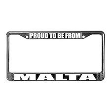 Malta License Plate Frame