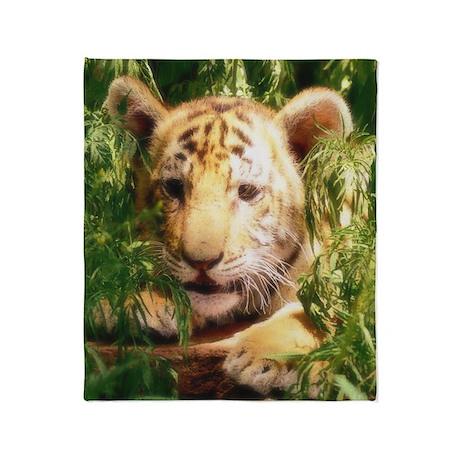 Little Tiger Throw Blanket