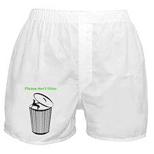 2LDAR_dontlitter_front Boxer Shorts
