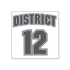"District12_6 Square Sticker 3"" x 3"""