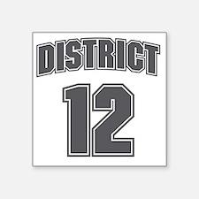 """District12_6 Square Sticker 3"""" x 3"""""""