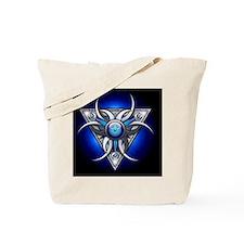 Triple Goddess - blue - greeting card Tote Bag