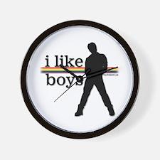 I Like Boys - Gay Pride Wall Clock