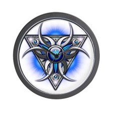 Triple Goddess - blue - transparent Wall Clock