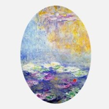 443 Monet 4 Oval Ornament